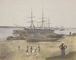 View of the Hooghly near Hastings' Bridge, Calcutta